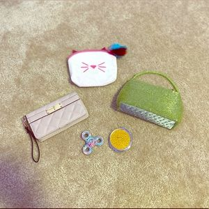Lot of wristlet & cosmetic and purse bags